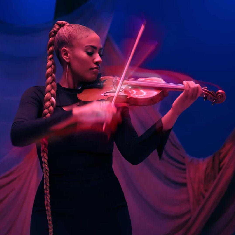 Ezinma playing the violin square image